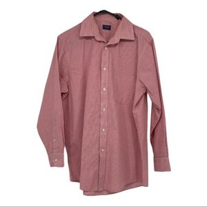 Arrow men's red and white checkered dress shirt